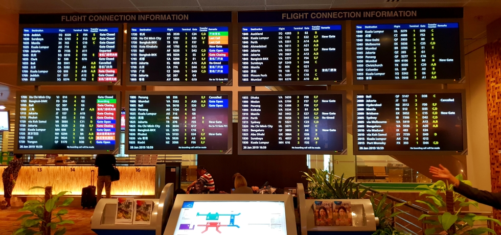 Departures Board, Changi Airport