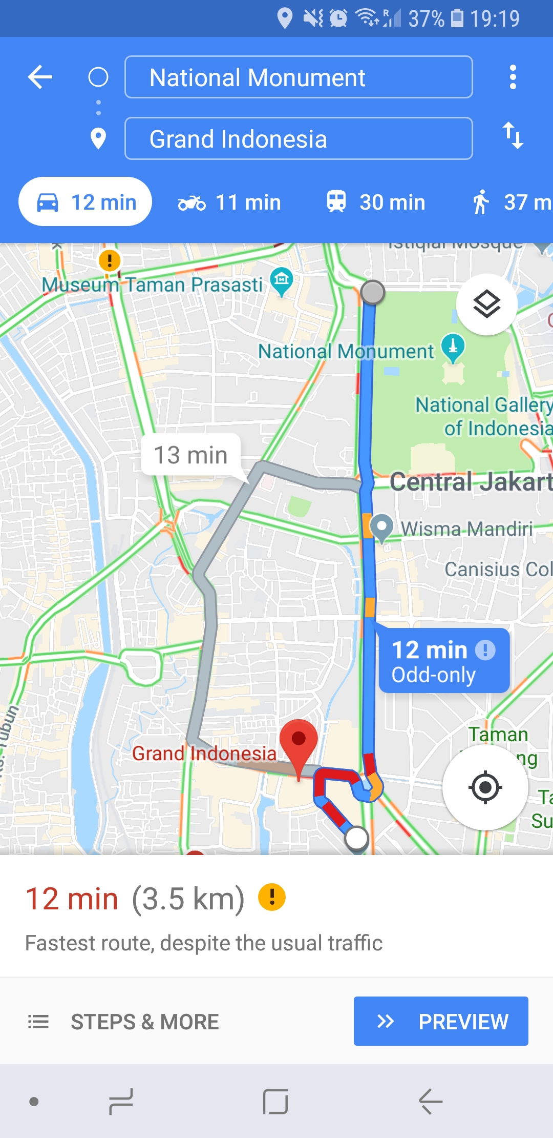 Google Maps, Grand Indonesia