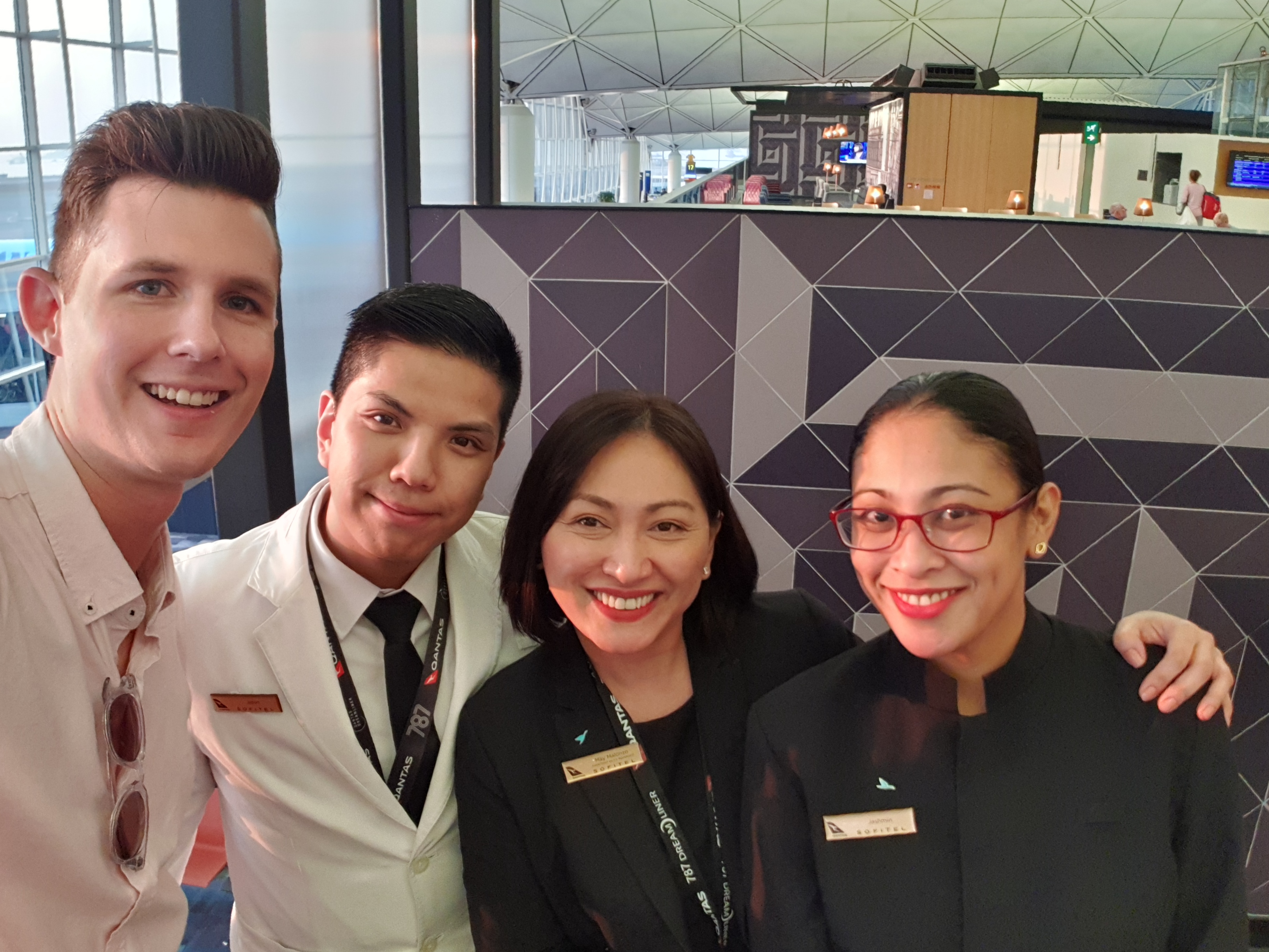 Hong Kong Qantas Lounge Staff