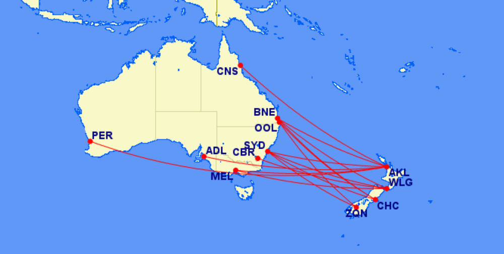 Trans-Tasman Travel Bubble Airlines